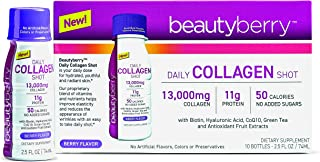 Beautyberry Daily Collagen Shot, Berry Flavor, 10 Count