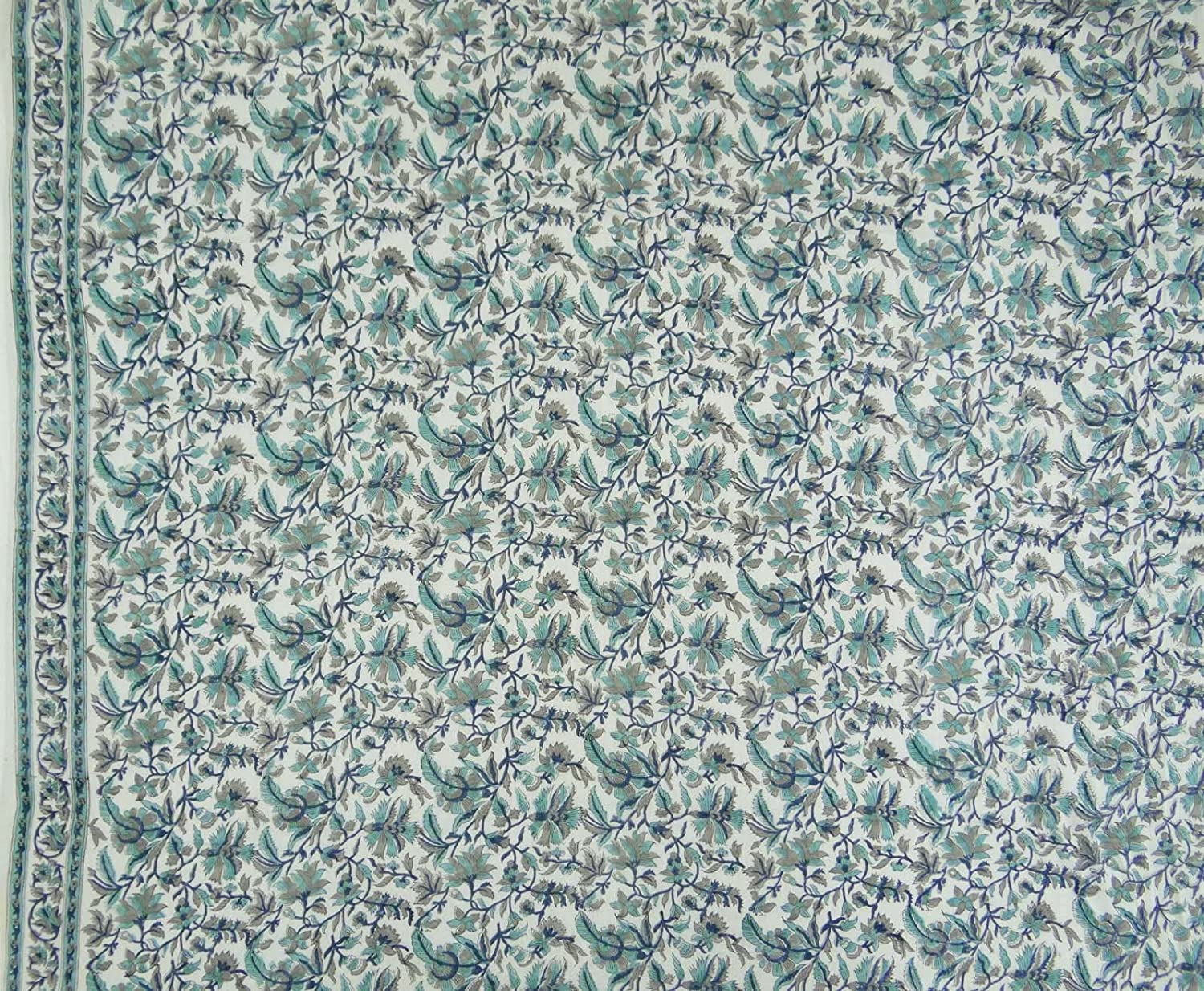 Fabric By the Meter 45in Width Cotton Weavers Soft Cotton Fabric Cotton Fabric Floral Block Print Fabric Indian Fabric