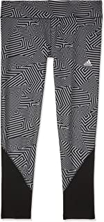 adidas Women's CZ7964 D2M Regular-Rise AOP 7/8 Tight