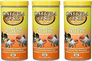Omega One 3 Pack of Goldfish Medium Pellets, 8 Ounces Each