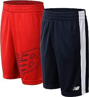 New Balance Boys' Shorts Set – 2 Pack Mesh Gym Shorts (Little Boy/Big Boy)