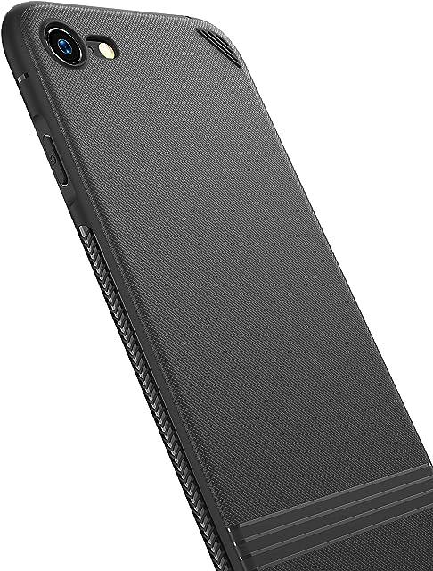 Funda iPhone 8 Funda iPhone 7 Kinriz Carcasa Ligera Bumper Silicona Suave TPU Anti-Arañazos Anti-Golpes Protección de 360 Grados Caso Cover Case para iPhone 7 / iPhone 8 (4.7 Pulgadas) - Negro