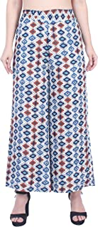 Fraulein Women's/Girls Palazzos Honeycomb Print Crepe Flared Bottom Palazzos with One Pocket and Mesh Inner Lining Short -...