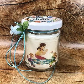 Ti voglio bene Tata candela personalizzata in cera di soia e olio essenziale con stoppino in legno idea regalo BabySitter ...