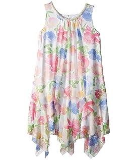 Chiffon Floral Print Trapeze Dress (Big Kids)