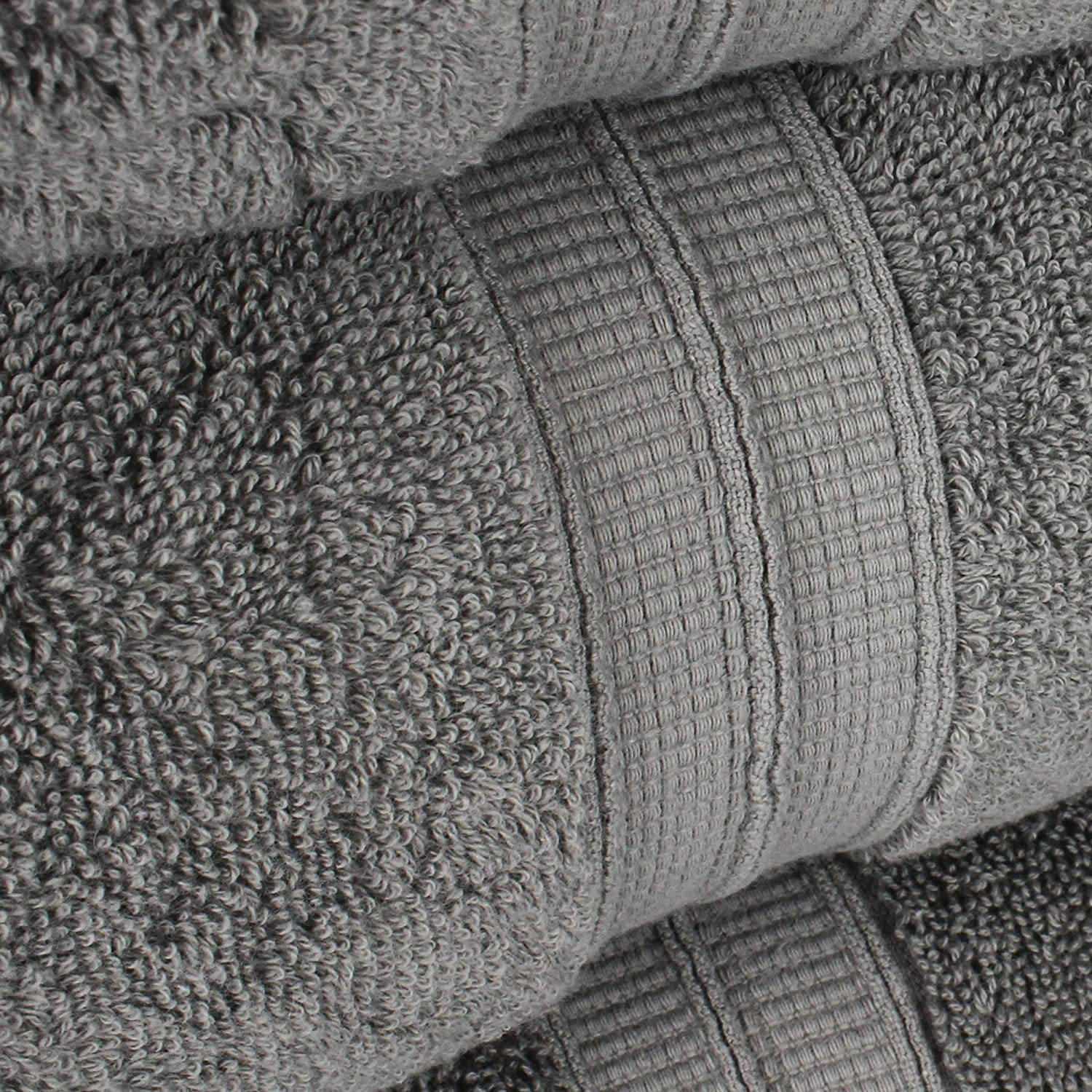 Navy 2 Ply Turkish Ring-Spun Cotton Yarn Makes The Luxe-Factor Eco-Friendly, Long-Stable 20//2 Luxury Premium Turkish Cotton 6-Piece Towel Set