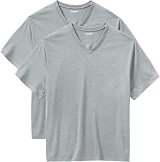 Amazon Essentials Men's Big & Tall 2-Pack Short-Sleeve V-Neck T-Shirts fit by DXL