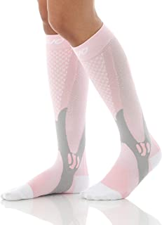MoJo Recovery & Performance Sports Compression Socks - Pink X-Large