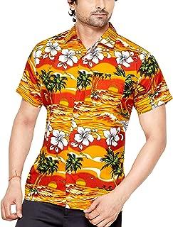 CLUB CUBANA Men's Slim Fit Classic Short Sleeve Casual Floral Hawaiian Shirt
