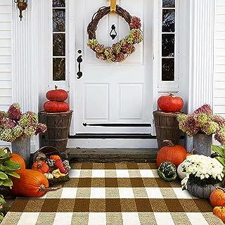 Buffalo Plaid Outdoor Rug - Fall Door Mat -Door Mat - Welcome Mat - Indoor Door Mat - Brown Doormat - Fall Decor Outdoor -...