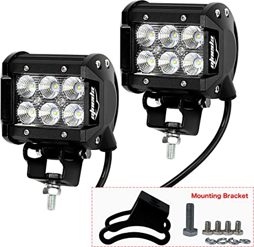 """discount 2 Pack - EPAuto 4"""" 18W 1260lm Cree LED Light wholesale Bar Flood wholesale Beam Waterproof Mount for SUV/Boat/Jeep/Van/ATV/SUV/Offroad online sale"""