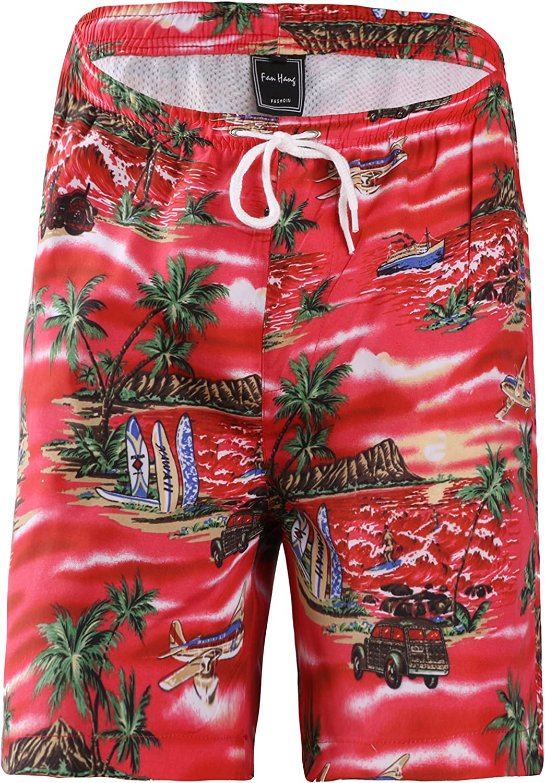fanhang Quick Dry UPF 50 Active Printed Big Girls Boys Swim Board Beach Shorts