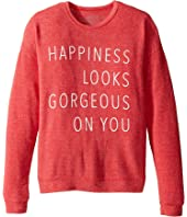 The Original Retro Brand Kids - Happiness Gorgeous On You Pullover Haaci Sweatshirt (Big Kids)