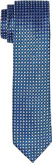 Van Heusen Men's Silk Self Pattern Tie, Navy
