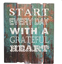 Stonebriar Grateful Heart Wood Wall Decor with Hooks