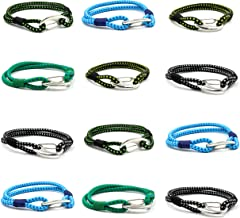 FROG SAC 12 Bungee Cord Bracelets for Teen Boys - Shock Cord Friendship Bracelet Pack for Teens - Tactical Survival Bracelets - Cool Accessories for Guy - Great Party Favors, Stocking Stuffers