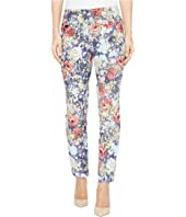 Lisette L Montreal - Rose Daisy Jacquard Ankle Pants