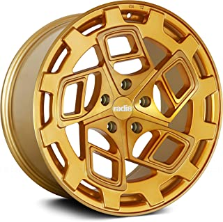 Radi8 R8Cm9 Сustom Wheel - Gold with Brushed Face 19
