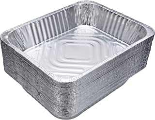 DOBI (30-Pack) Chafing Pans - Disposable Aluminum Foil Steam Table Deep Pans, Half Size - 12 1/2