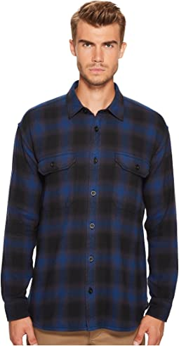 Ombre Buffalo Plaid Overshirt