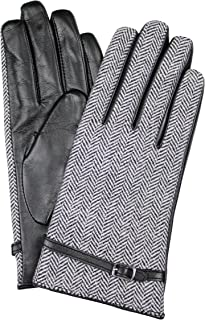 Dents Women's Leather And Tweed Gloves