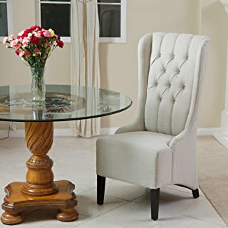 Christopher Knight Home Champion Tufted Light Beige Fabric Dining Chair