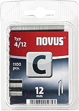 Novus Smalle rugklemmen 12 mm, 1100 klemmen van type C4/12, nietmiddel voor profielhout, panelen en houtvezelplaten.