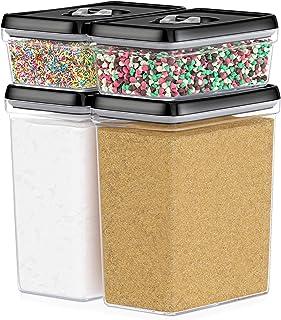 DWËLLZA KITCHEN Large Airtight Food Storage Containers - Bulk Food Pantry & Kitchen Storage Containers for Sugar, Flour an...