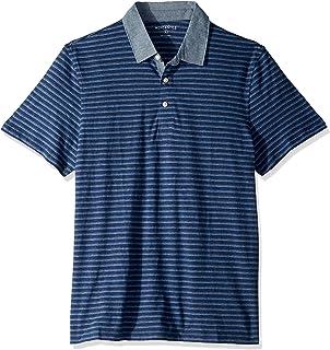 J.Crew Mercantile メンズ 半袖 ストライプ ポロシャツ シャンブレーカラー