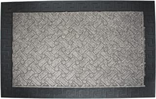 J&M Home Fashions Heavy Duty Outdoor/Indoor Doormat, 24x36, Charcoal Utility Mat