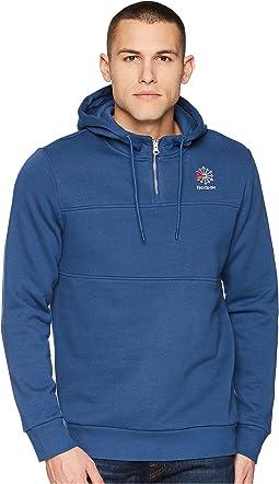 SMU 1/4 Zip Crew Sweatshirt