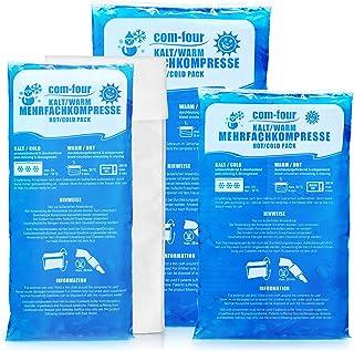 COM-FOUR® 3x multipel komprimering i olika storlekar med fleeceöverdrag - gelkompress för kalla och varma applikationer - ...