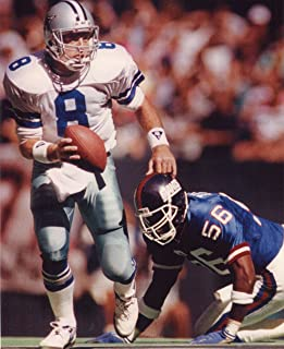 TROY AIKMAN DALLAS COWBOYS-LAWRENCE TAYLOR NEW YORK GIANTS 8X10 SPORTS ACTION PHOTO (XLT)