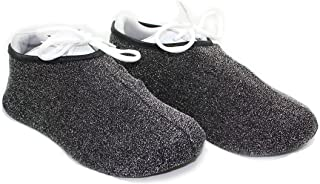 Shoe Covers - Washable, Long-Lasting, Reusable Shoe Covers - Perfect for Contractors, Realtors, Medical Booties, Bowling Shoes Covers, Cheer Shoe Covers, and more! (SILVER) (Medium)