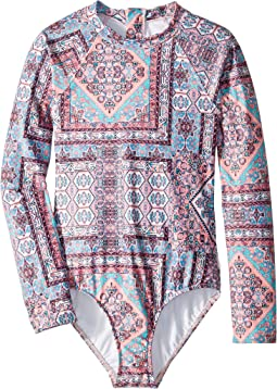 Maharaja Long Sleeve Surf One-Piece (Little Kids/Big Kids)