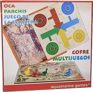 Aquamarine Games - Cofre Oca parchís y Escalera Set de Juegos (Compudid CP010)