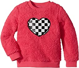 Little Marc Jacobs - Soft Faux Fur Heart Illustration Long Sleeve Sweatshirt (Toddler/Little Kids)