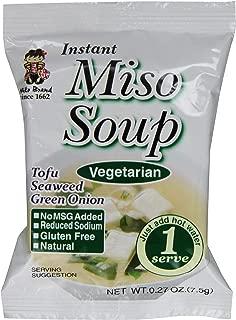 Miyasaka Freeze Dried Vegetarian Miso Soup, 0.27 oz (Pack of 12)