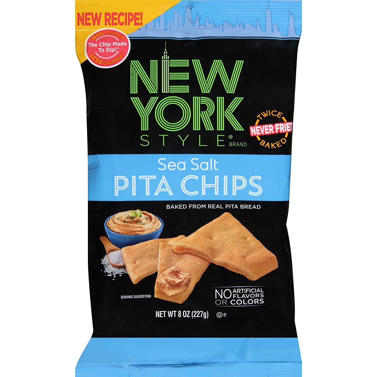 New York Detroit Mall Style Pita Chips favorite Sea Pack 12 8 Ounce of Salt
