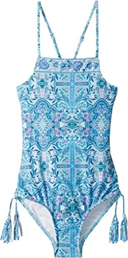 Seafolly Kids - Gypsy Dream High Neck Tank One-Piece (Little Kids/Big Kids)