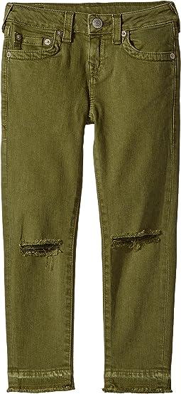 Casey Ankle Skinny Jeans in Olive (Big Kids)