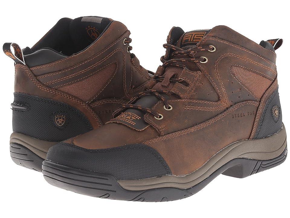 Ariat Terrain Wide Square Steel Toe (Distressed Brown) Men