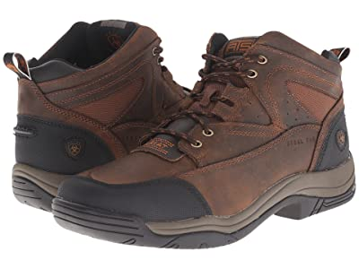 Ariat Terrain Wide Square Steel Toe (Distressed Brown) Men