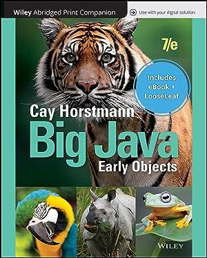 Big Java 7e Abridged Loose-Leaf Print Companion with Wiley E-Text Reg Card Set