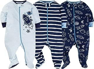 Onesies Baby Boy Sleep N' Play Sleepers 3 Pack