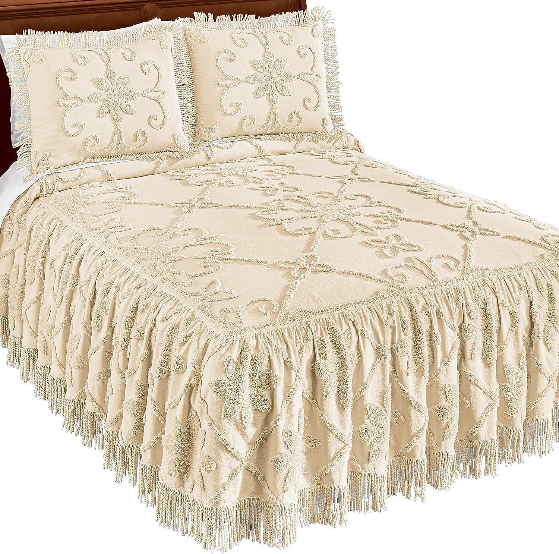 Vintage-Style Medallion Cotton 今季も再入荷 Bedspread 店内全品対象 Chenille