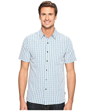 Royal Robbins Mojave Pucker Plaid Short Sleeve (Merlin Blue) Men