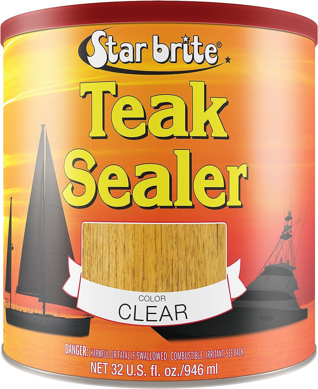(32 Oz Quart, Clear) - Star Brite Teak Sealers