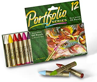 Crayola Oil Pastels Portfolio Series, Water Soluble, Assorted Colors, 12 Count