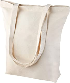 Heavy Duty and Strong, Large Zippered Canvas Tote Bags for Crafts, Shopping, Books, Diaper Bag, and the Beach!